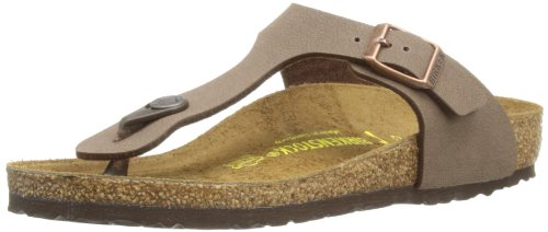 Birkenstock Girls' Gizeh Cork Footbed Thong Sandal Narrow Mocha 30 M EU by Birkenstock