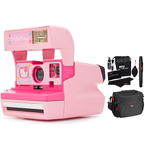 Impossible Polaroid 600 Hello Kitty Camera, Ritz Gear Deluxe Premium DSLR Camera Bag and Ritz Gear Cleaning Kit (Renewed)