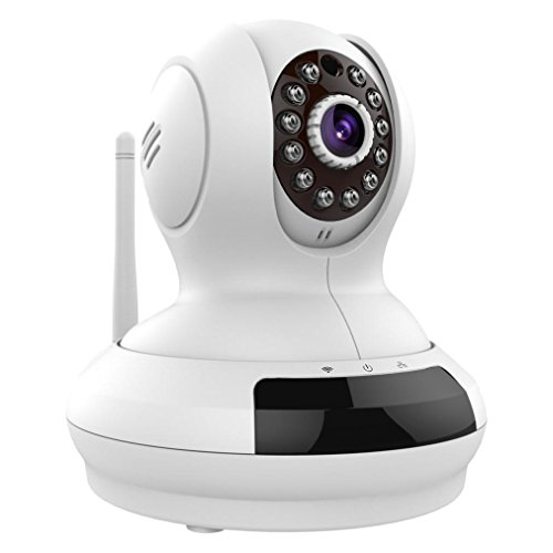 SHY 720P Wireless Wifi IP Camera Home Security Camera IP Network Video HD Cam Baby Monitor Pan Tilt Two-Way Audio Night Vision (White) by SUNSHINEHOMELY