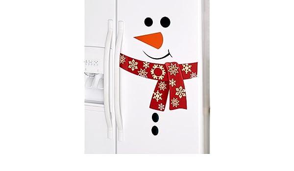 Muñeco de nieve imanes para nevera (rojo): Amazon.es: Hogar