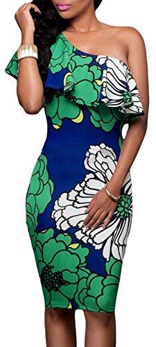 Anmengte Printed Floral Shoulder Partywear