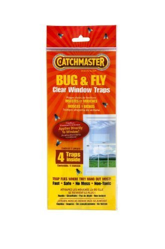 Sticky Fly (Catchmaster 904 Bug & Fly Clear Window Fly Traps - 3 Packs of 4 Traps)