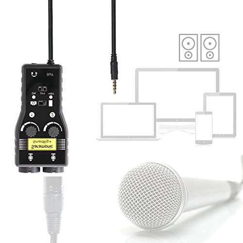 Review Saramonic SmartRig+ 2-Channel XLR/3.5mm Microphone Audio Mixer with Phantom Power Preamp & Guitar Interface for DSLR Cameras, Camcorders, iPhone, iPad, iPod, PC,and Android Smartphones,