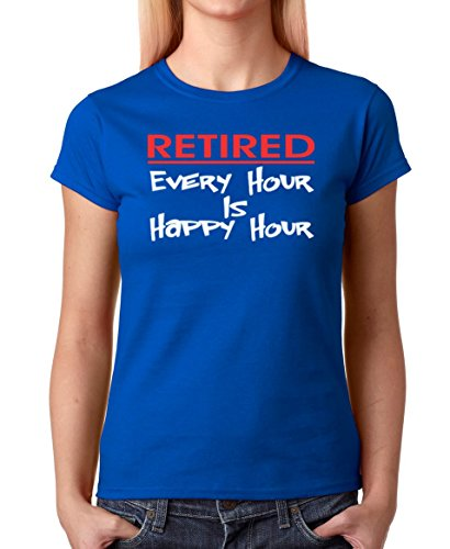 AW Fashions Retired Every Hour is Happy Hour - Retirement Gift Premium Women s  T-Shirt c156fa13c