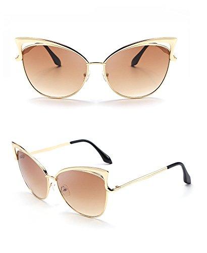 la la aire sol gafas gafas personalidad lente de de sol de de sol ULTRAVIOLETA del las personalidad de al señora anti Marco la marco Gafas de manera libre de coloreada gradualmente dorado RFVBNM xaqvwSnE