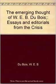W e b dubois essay