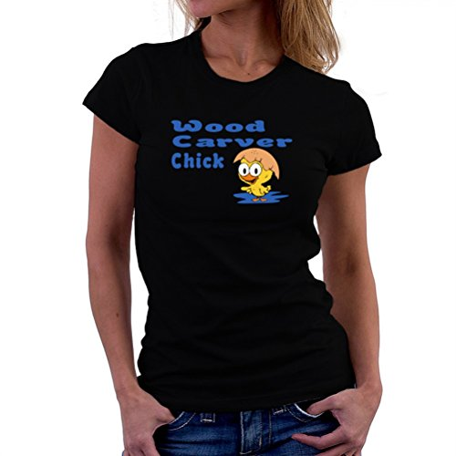 Wood Carver chick T-Shirt