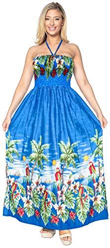 fino coprire fessura LEELA morbido g85 maxi capestro donne beachwear lungo Blu vestito likre LA tubo axZE5FwXqF