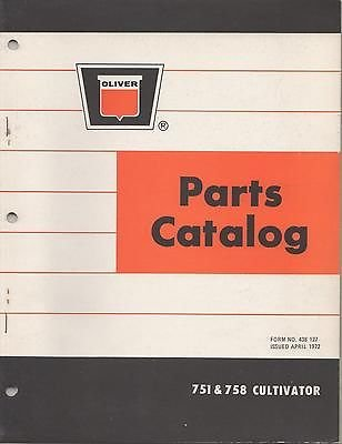 1966 OLIVER 450 DRAWN PLOW PARTS CATALOG MANUAL P/N 438 038 (103) ()