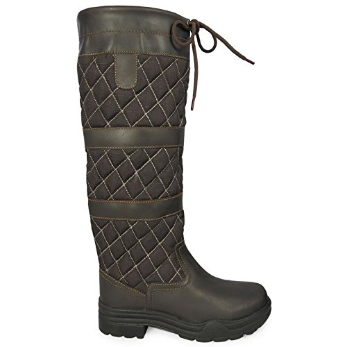 Winter Country Ladies Riding Leather Belfast Boots Hkm Walking Mucker Brown Horse Long npFaXCwxq4
