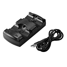 XCSOURCE Dual USB Charger Double Charging Dock Station Stand with USB Cable for PlayStation PS3 / PS3 Move Game Controller AC1083