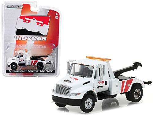Greenlight International Durastar 4400 IndyCar Series Tow Truck White 1/64 Diecast Model (Tow Truck Diecast)
