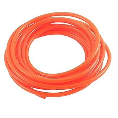 4 Meter 6mm x 4mm Polyurethane PU Air Hose Tubing Orange Red
