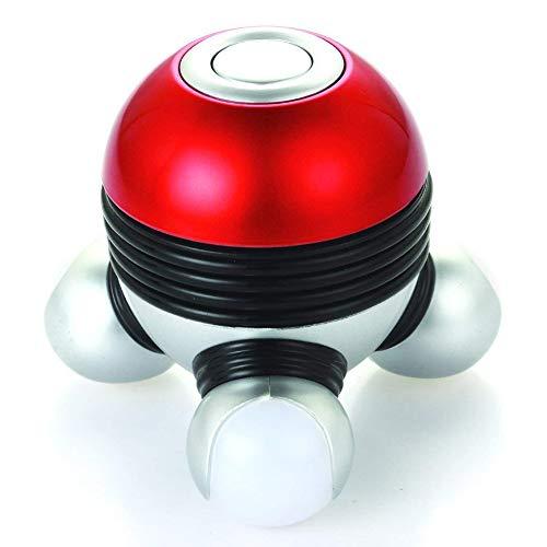 JaxboHandHeldMassagerMiniPortableBodyPowerfulVibratingMassagewithLedLightPerfectforHandHeadNeckBackLegsArmsFacePainRelease,BatteryPowered,Red