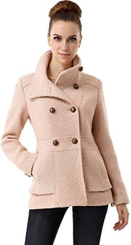 BGSD Women's Cheri Wool Blend Boucle Coat