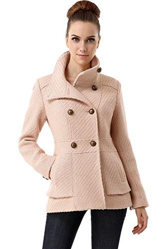 - BGSD Women's Cheri Wool Blend Boucle Coat, Blush Pink, Small