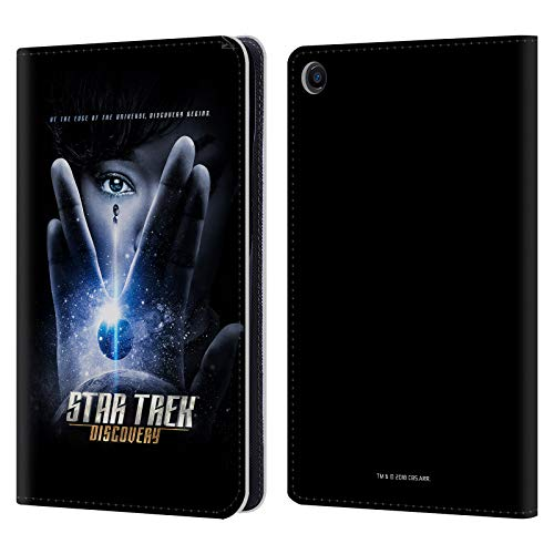Official Star Trek Discovery Vulcan Salute Posters Leather Book Wallet Case Cover Compatible for Xiaomi Mi Pad 4 Plus