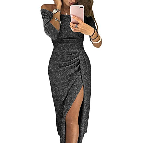 Gonna A Maniche Party Fessura 3 Sexy Spalline Vestito Dress Vita Senza Black Baivin Flash Alta 4 U6WqRv0Uc