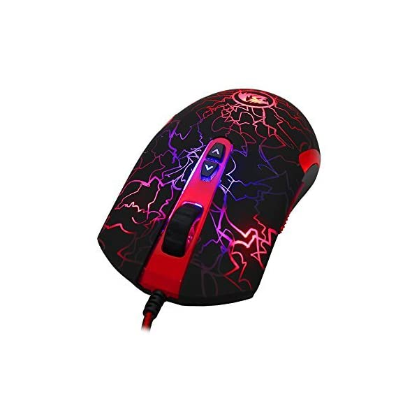 Redragon M701 Gaming Mouse Wired Lavawolf, 3500 DPI 7 Programmable Buttons & 5 Memory Profiles Ergonomic Mouse for Mac…