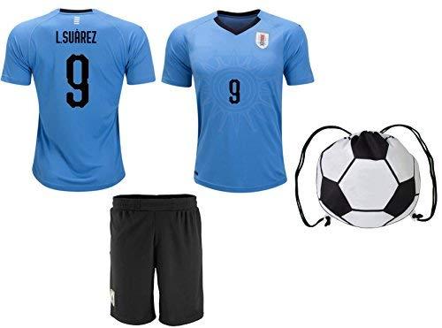 17762d923 Uruguay Suarez  9 Soccer Jersey Kids Youth Sizes Football World Cup Premium  Gift ✓ BONUS Premium Gift Soccer Backpack (YM 8-10 Years
