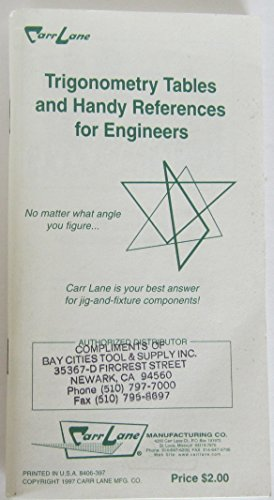 Handy Multipliers and Trigonometry Tables for Engineers (Tables Trigonometry)