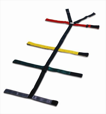Dixie Ems 010308 Spineboard, 10 Point Reflective Color Coded Spider Strap Type System