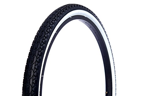 Wanda Beach Cruiser Tires, Black with White Wall, 26