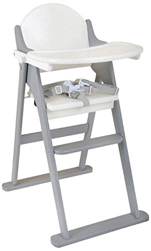 East Coast Nursery Folding Highchair (White/Grey) 7565