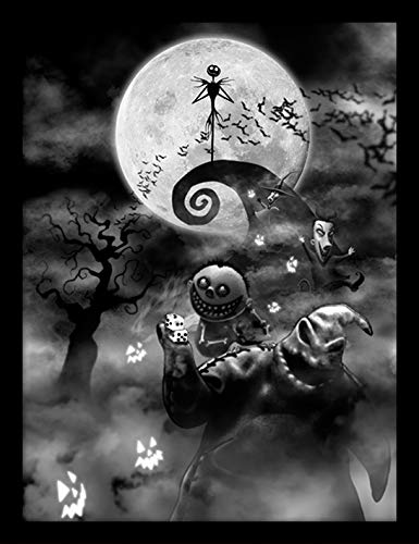 Nightmare Before Christmas Oogie Boogie Trouble Framed 30 X 40cm Print Mdf Multi Colour 42 X 32 X 2 4 Cm