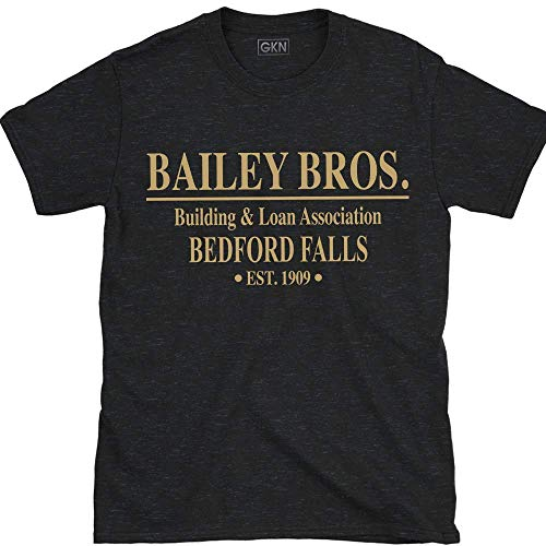 Bailey Bros Building and Loan It's A Wonderful Life T-Shirt Black (Building And Loan Its A Wonderful Life)