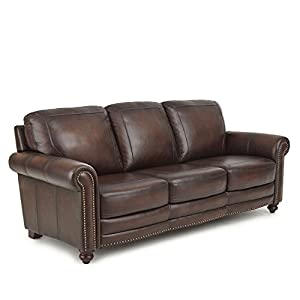 Exceptionnel Greyson Living Edinburgh Top Grain Leather Sofa By
