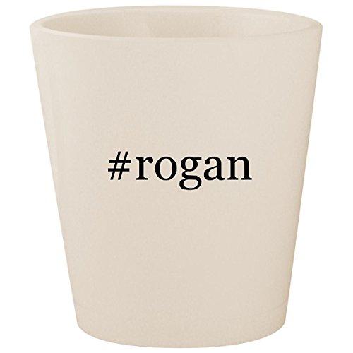 #rogan - White Hashtag Ceramic 1.5oz Shot Glass