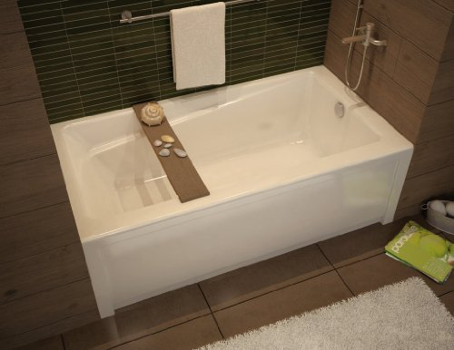 Maax 105519-000-001-103 White Professional Exhibit 6030 Soaking Tub 60''L x 30''W x 18'' with Right Side Drain 105519-103 by Maax