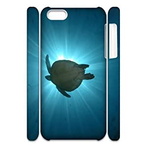 Cell phone 3D Bumper Plastic Case Of Tortoise For iPhone 5C