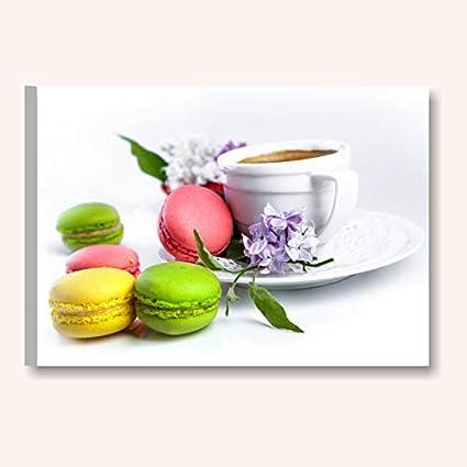 Macaron caffè - Quadro Moderno 70 x 50 cm Stampa Tela Canvas XXL ...