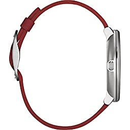 Pebble Time Round 14mm Smartwatch for Apple/Android Devices - Silver/Red (Certified Refurbished)