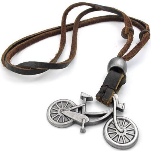 KONOV Bicycle Pendant Adjustable Necklace