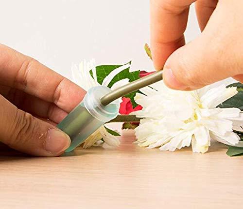 VASANA 100PCS 2.8 Floral Water Tubes Plastic Clear Blue Rose Flower Picks Tubes Milkweed Cuttings Vials Tubes for Flower Arrangements Craft Supply