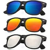 Polarized Sunglasses for Men and Women Matte Finish Sun glasses Color Mirror Lens