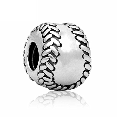 Many Styles To Choose From - Charms Beads Pendents Beads On SALE Best Selling Gifts (Fits Pandora, Troll, Baigi, Chamilia, Zable, & Similar Bracelets Necklaces) (Baseball (Chamilia Disney Collection)