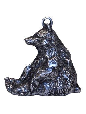 Gorgeous Sitting Bear Christmas Ornament Medallion Hanging Charm Key Chain Eric Thorsen Montana (Grizzly Bear Ornament)