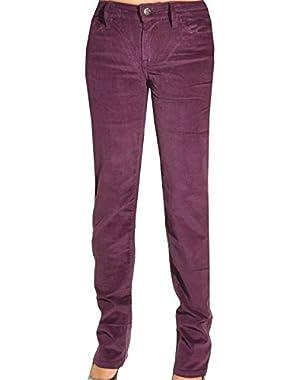& Co. Womens Slim Straight Corduroy Pants