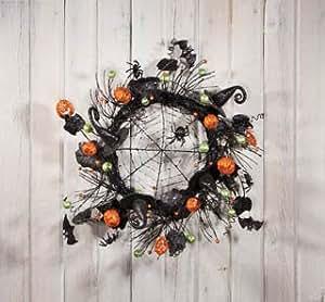 Hats, Bats, and Spiders Halloween Wreath
