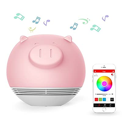 PLAYBULB Table Lamp with Speaker,Touch Sensor + APP Control,Dimmable Multicolored Mood Light Bluetooth Speaker Works with Apple iPhone, iPad and Android devices from PLAYBULB