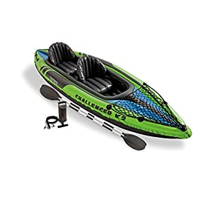 Intex Challenger K2 Irrigate Sports Boating Inflatable Boat Kayak - 2 Person