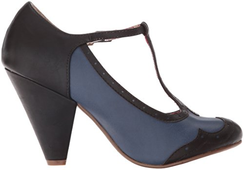 Bettie Page Womens Bp403-kaden Dress Pump Blue