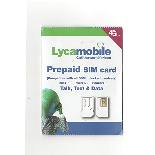 Lycamobile Triple Punch Standard, Micro and Nano All in One SIM Card