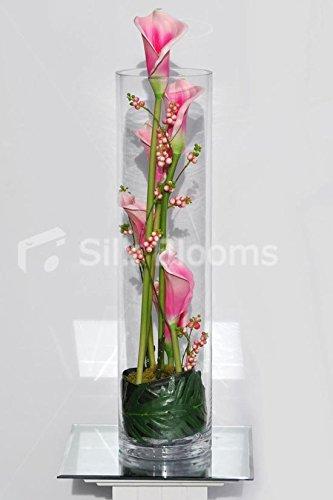 Arreglo Floral Fresh Touch Calas Rosa Y Bayas Artificiales