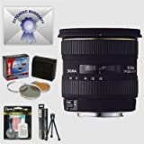 Sigma 10-20mm f/4-5.6 EX DC HSM Wide Angle AF Lens & Filters & 7 Year Warranty for Canon EOS Digital SLR Camera
