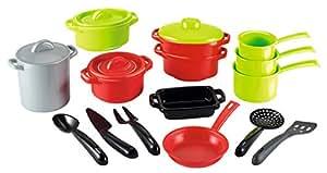 Smoby (SMOBH)) - Bolsa Set de cacerolas GM, Color Negro, Verde, Gris, Rojo (991)